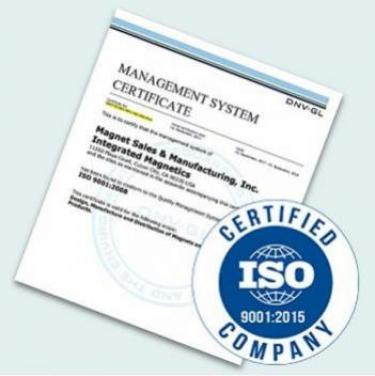 ISO:9001 2015 Certificate