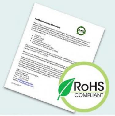 RoHS Compliance Certificate